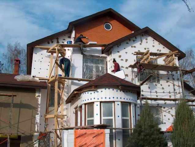 Мокрый способ отделки для фасадов